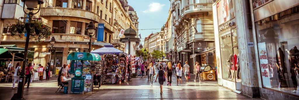 Shopping i Belgrad